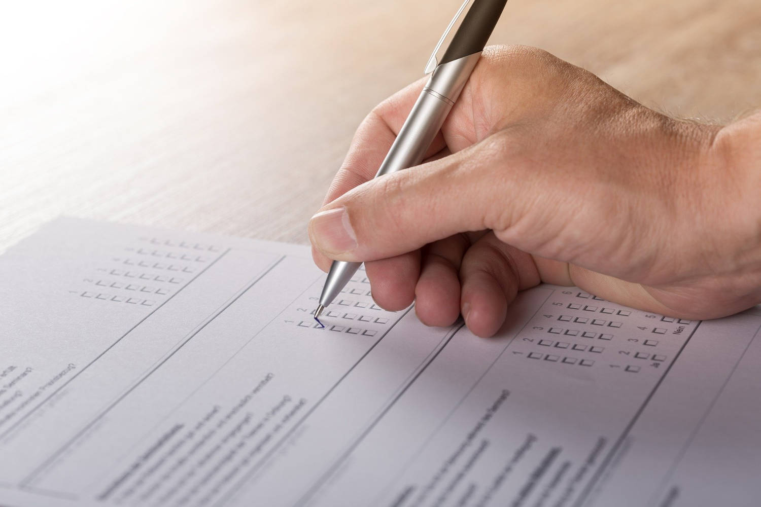 health needs assessments filling in questionnaire